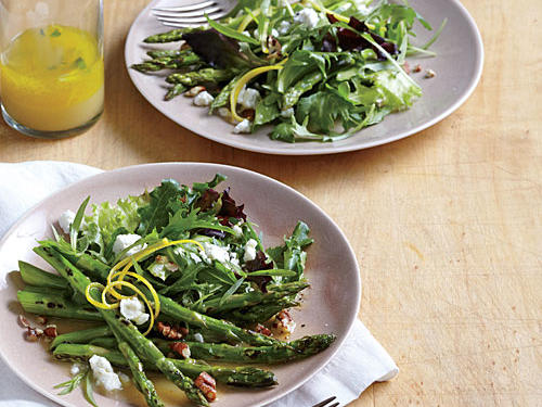 1405 Skillet Asparagus Salad with Goat Cheese