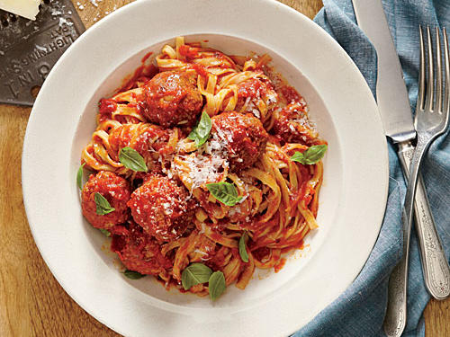 Linguine with Ricotta Meatballs