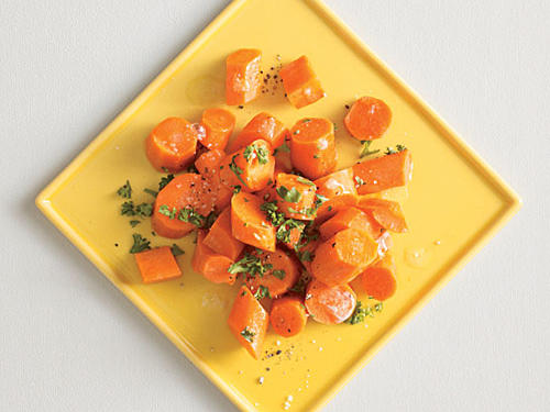 Citrusy Carrots with Parsley