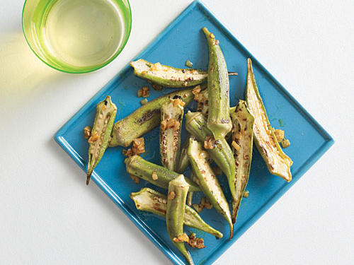 This okra gets its kick from curry powder and crushed red pepper. It's hard to believe something so yummy could only contain 41 calories per serving.