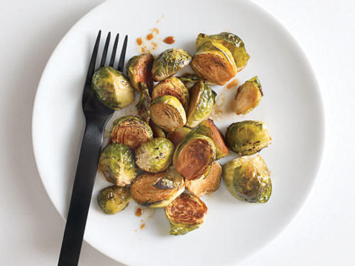 Blasted Brussels Sprouts with Teriyaki Glaze