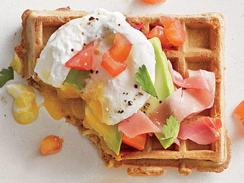 A riff on the classic ham-and-egg duo, our Green, Egg, and Ham Waffle features a little avocado, cilantro, and prosciutto for a savory, energizing breakfast.