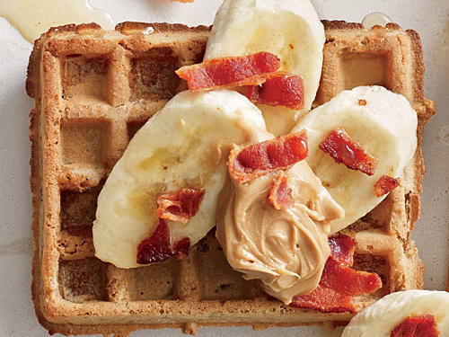 This aptly-named breakfast treat would've delighted the King of Rock 'n' Roll, with its sweet peanut butter and crispy bacon complemented by delicious sliced bananas.