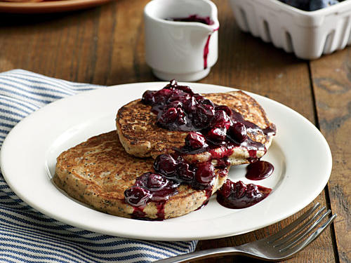 1405 MP: Lemon-Poppy Seed Pancakes with Blueberry Compote