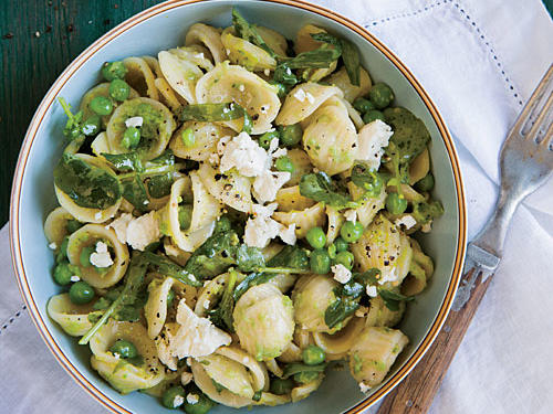 Orecchiette with Cress and Spring Pea Sauce