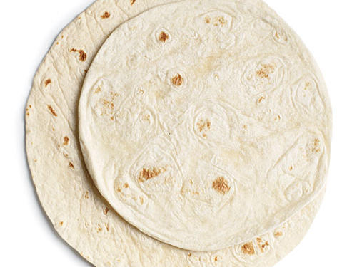 Downsizing from a typical 10-inch tortilla to an 8-inch saves 106 calories and 207mg sodium.