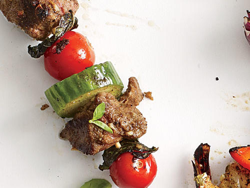 Lamb, Tomato, and Mint Kebabs