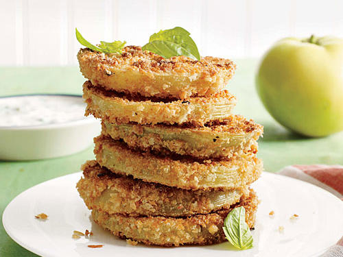 Lighter  Fried  Green Tomatoes