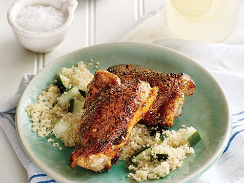 Spiced Chicken Thighs and Parsley Couscous