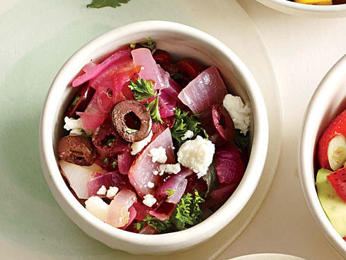 Red Onion, Olive, and Feta Salsa