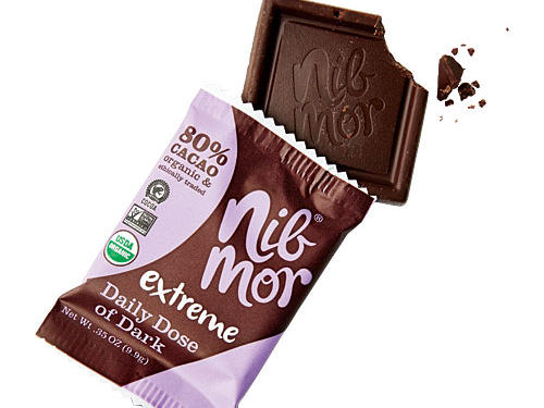 NibMor Extreme Dark Chocolate with Cacao Nibs (80% Cacao)