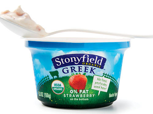 Stonyfield Organic Nonfat Strawberry Greek Yogurt