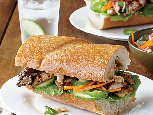 Ginger-Soy Pork Loin Sandwiches