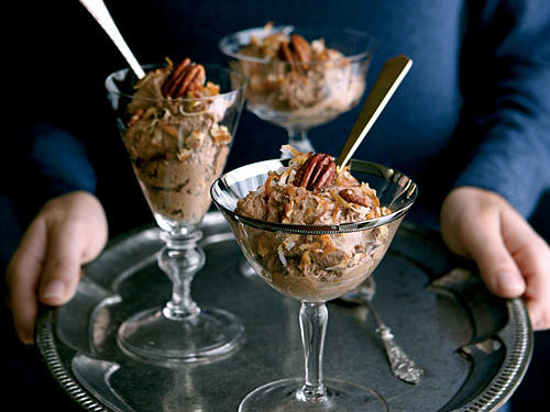 A twist on a family favorite, this mousse is even more decadent and satisfying than a German chocolate cake. Top off the rich mousse with toasted pecans for a tasty and pretty garnish.