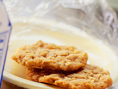 "An anzac biscuit is an Australian cookie (""biscuits"" down under) and is sure to be a hit."