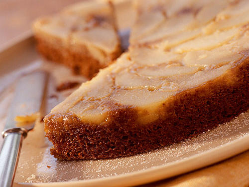1302 Pear Upside-Down Gingerbread Cake