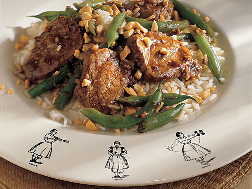 Pork, Cashew, and Green Bean Stir-Fry