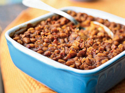 Chipotle chiles in adobo sauce add smoky-hot depth to these easy-to-make baked beans.