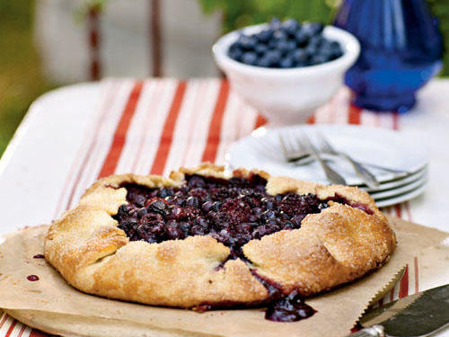 1210 Blueberry and Blackberry Galette with Cornmeal Crust