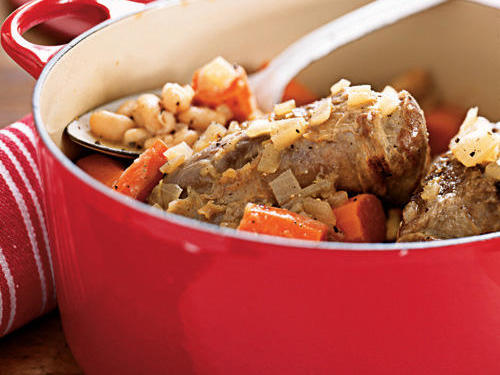 Lamb Shanks with Lemon and White Beans