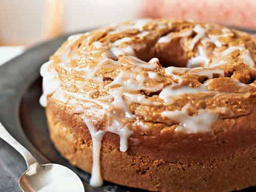 Pumpkin Pound Cake with Buttermilk Glaze