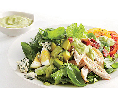 Chicken Cobb Salad with Avocado Dressing