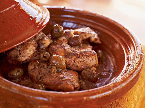 Chicken Tagine with Lemons and Olives