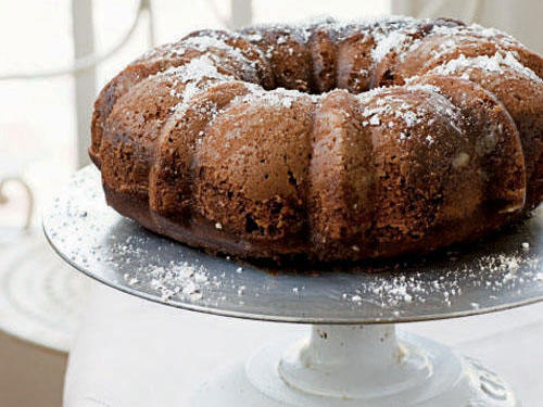 """The cake has a delicate chocolate flavor, so it's not overpowering,"" said recipe developer Barb Combs. ""I enjoy the special glaze the most. Although I wrote the recipe to say 'cool completely,' the cake tastes delicious served slightly warm about a half hour after you have inverted it from the pan."""