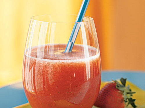 This refreshing frozen drink is best with summer-sweet berries, but can be made year-round with other readily available fruit.