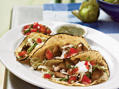 "There are a lot of reasons to love this dish, says cathy: ""Delicious!! Quick and easy. My husband usually prefers beef tacos and I was able to change his eating habits. I would make them again and also they would work for a huge crowd."""