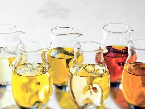 Liquid vegetable oils are rich in vitamin E and unsaturated fats                           (monounsaturated and polyunsaturated), which don't clog arteries.                           Olive oil is particularly rich in phenol antioxidants.                                                                                       View Recipe: Mixed Herb Salad