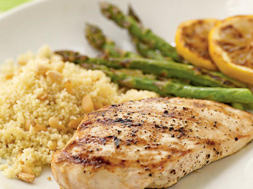 Keep chicken breasts on hand, and you'll always have options. Creative pairings mean endless dinner possibilities. No-grill option: Brown the chicken in a pan as opposed to firing up the grill. Or, try a grill pan.