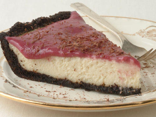 You can prepare this creamy pie a day in advance, just wait and spread the triple berry topping before serving.