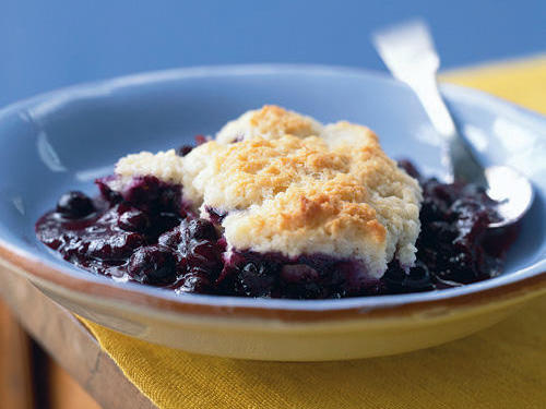 Lighter Blueberry Cobbler