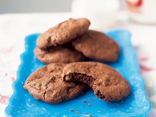 Two bake sale classics made into one delicious treat. Crispy on the outside, chewy on the inside, and rich and delicious all the way around is how readers rate these brownie-like cookies. Need we say more?