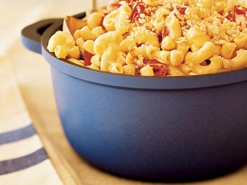 Stove-Top Macaroni and Cheese with Roasted Tomatoes Recipe