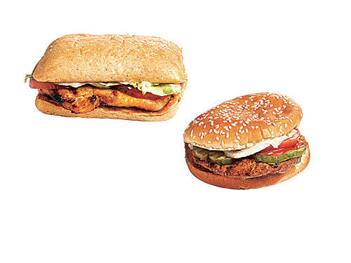 7. You hanker for fast food. Grilled chicken beats beef burger.