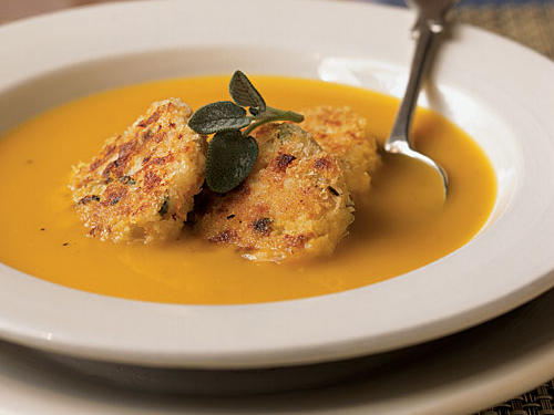 Roasted Squash Soup with Turkey Croquettes