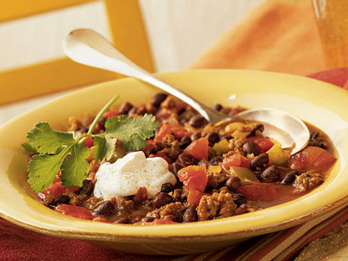 If you're looking for an easy chili recipe, check out this Mexican-inspired black bean chili. It features ground chuck, onion, bell pepper, and traditional chili spices.