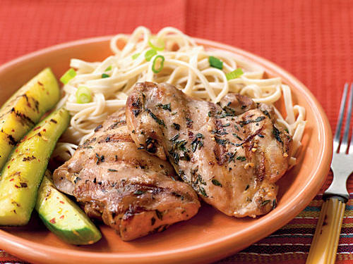 Healthy Marinade: Soy-Marinated Chicken Thighs