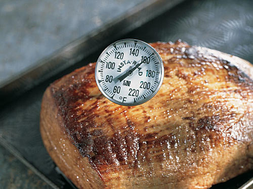 Use an instant-read thermometer to check meringues, meat, and poultry to be sure they're cooked to the correct temperature. Don't leave the thermometer in the oven while the food is cooking; remove it from the food after you read the temperature.