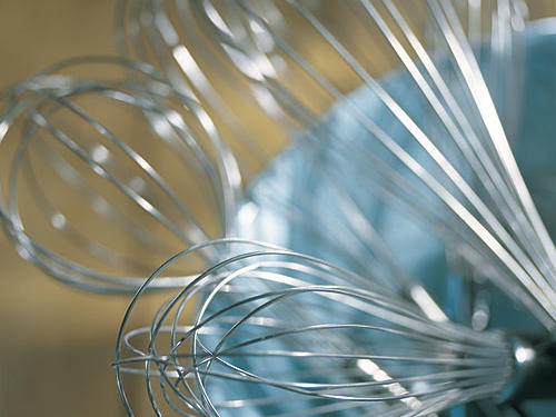 Whisks in assorted sizes are ideal for beating eggs and egg whites, blending salad dressings, and dissolving solids in liquids. We consider them essential when making creamy sauces. Whisks are available both in stainless steel and nylon; the nylon ones won't scratch nonstick surfaces.