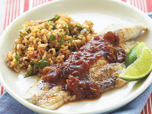 Farm-raised catfish are good for your budget, your health, and the environment. Chipotle salsa gives oomph to this mild-tasting fish.