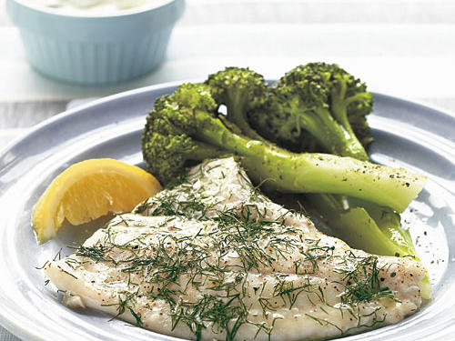 A symbol of vitality since Roman times, fresh dill lends its sharp flavor and a distinct aroma to mild and delicate founder fillets. Sour cream and capers add tang.