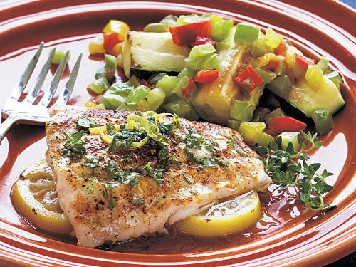 Lemon Red Snapper with Herbed Butter