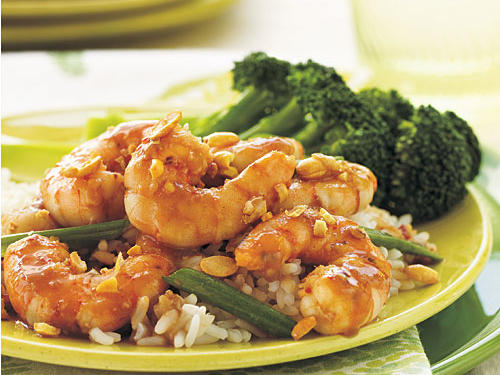 Soy nuts add a delightful crunch to this spicy Chinese dish. If you can find them, substitute peanuts. Serve with steamed broccoli and rice.