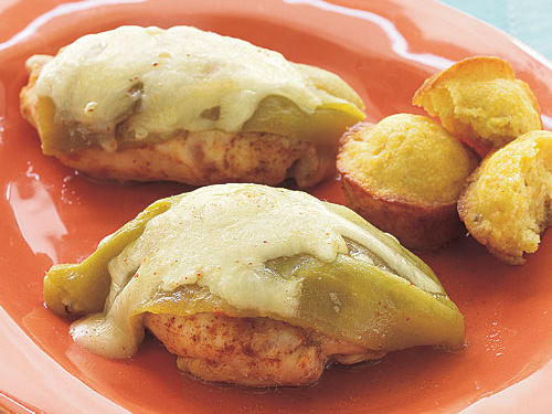 Smothered Green Chile Pepper Chicken