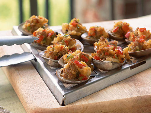 Healthy Grilled Clams with Sambuca and Italian Sausage Recipe