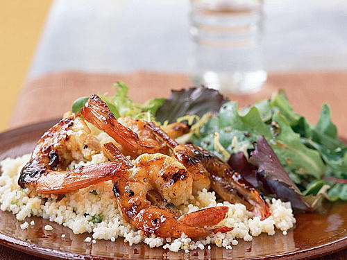 Shrimp on Sugarcane with Rum Glaze