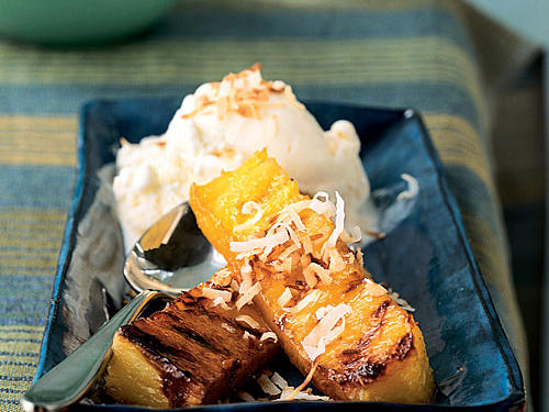 Healthy Grilled Rum-Spiked Grilled Pineapple Recipe